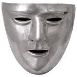 Römische Gesichtsmaske, Messing verzinnt