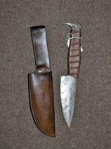 keltisches Ritualmesser Rabe mit Lederscheide (O4E-7891)
