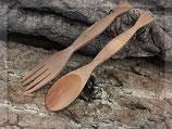 Gabel und Löffel Set aus Holz 16 cm