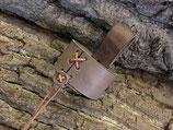 Trinkhorn-Gürtelhalter aus Leder