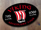 "Aufkleber oval "" Viking Adventure Tours "" SVA-035-145"