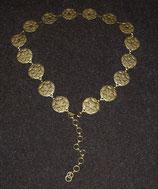 Metall-Gliedergürtel Esago hellgold