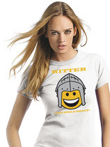 "T-Shirt SVW042 ""Ritter Smiley"" (weiß)"