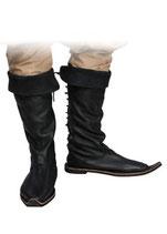 Schnabelstiefel aus Leder, schwarz (BMIF10121019)