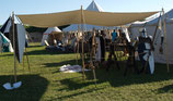 Das gängigste Modell: Lagerplane - Zeltplane 4 x 5 m  mit historischen Schlaufen  (TS)