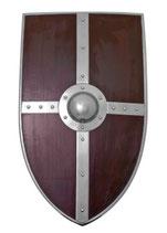 Wappen-Schild aus Holz mit Stahlbeschlägen (BM-64200)