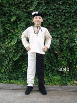 zweifarbige Mittelalter Hose Kind L3040duo