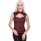 Aderlass Top mit Neckholder bordeaux brokat (UN-A-4-09-040-20)