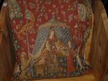 Gobelin Kissenbezug mit Ritterzelt