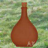 Bocksbeutelflasche 0,8 Liter aus Ton
