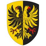 """Holz-Ritterschild """"Doppeladler"""" schwarz-gelb für Kinder"""