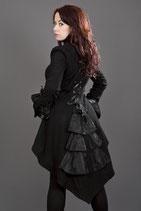 Schwarze Jacke aus Fleece Gothic Gehrock Pirat (BUR-PIR-Fleece)