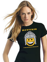 "T-Shirt SVW042 ""Ritter Smiley"" (schwarz)"