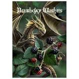 "Anne Stokes Karte ""Blackberry Dragon"""