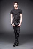 Gothic - Jeans schwarz mit Schlitzen QOD-TR2-183