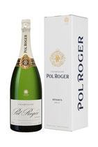 Pol Roger Brut Reserve Champagner inkl. Etui -Magnum-