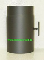 Rauchrohr aus Stahl Länge 250 mm Durchmesser 150 mm, mit Zugregulierung