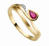 Ring Gold Rubin