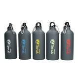 "Aluminiumflasche ""Sporty-2Tone"" gungrey 0,6 l, blau/grau"