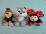 Affe, Waschbär, Glückskäfer