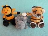 Biene, Nielpferd, Tieger