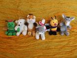 Grille, Polarbär, Hamster, Huski, Hummel, Esel