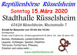 Eintrittskarte Reptilienbörse Rüsselsheim 15.03.2020, Junior