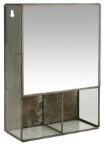 Wandschränkchen mit Spiegel und 3 Fächer
