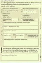 Überprüfung der Heilmittelverordnung, 5 Blocks 'a 30 Blatt