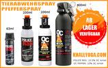 Tierabwehr - Pfeffersprays | OC5000 Tierabwehr- Das Effektive (10% Oleoresin Capsicum) - Pfefferspray