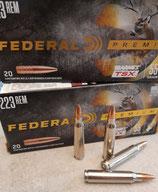 Federal P223S .223 REM 55GR  BARNES TRIPLE SHOCK VITAL-SHOK  *EWB Pflichtig