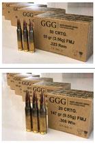 GGG FMJ Büchsenmunition im Kaliber 223Rem *EWB Erforderlich