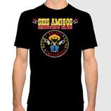 SEIS AMIGOS SHOOTING CLUB schwarz Fun T-Shirt in S-4XL