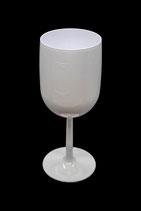 Weinglas 0.25l SAN weiss und schwarz