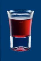 Schnapsglas 2cl SAN glasklar und teilgefrostet