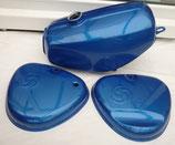 Tankset blau metallic Enduro passend Simson S50, S51  Neu