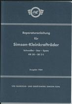 Reparaturbuch Reparaturanleitung für Simson Schwalbe Star Spatz KR50 SR2 Ausgabe 1964 DDR
