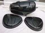 Tankset, Tank zusätzlich versiegelt und Seitendeckel passend Simson S50, S51 schwarz glänzend in Deutschland lackiert  Neu