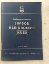 Betriebsanleitung für Simson KR50 mit 39 Bilder Ausgabe 1962