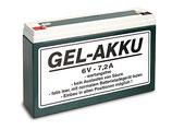 Batterie Gel-Akku 6V 7,2Ah passend Simson S50,S51 SR50, MZ ETZ150, ETZ250  Neu
