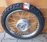 "Komplettrad vorn 1.6 x 16"" Chromstahl + Chromspeichen Vee Rubber Reifen VRM185 46M passend Simson S50, S51, KR51, SR4- u.a. Neu"