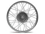 "Speichenrad 1,5x16"" Stahl verchromt passend Simson S50, S51, KR51, SR4- u.a. Neu"