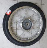 Komplettrad vorn 1.6 x 16 Alu-poliert + Edelstahlspeichen VRM 096  43J Reifen passend Simson S50, S51, KR51, SR4- u.a. Neu