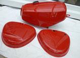 Tankset Ferrari/karmin-Rot Enduro Tank-innen zusätzlich versiegelt und Seitendeckel passend Simson S50, S51 in Deutschland lackiert  Neu