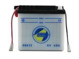 Batterie mit Säure 6V 4Ah passend Simson KR51  SR4-  Neu