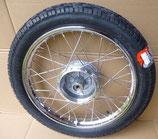 "Komplettrad hinten 1,6 x 16"" Chromstahl + Chromspeichen Vee Rubber Reifen VRM94 43J passend Simson S50, S51, KR51, SR4- u.a. Neu"