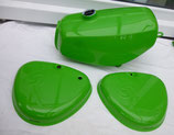 Tankset, Tank und Seitendeckel passend Simson S50, S51 Saftgrün in Deutschland lackiert  Neu
