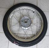 Komplettrad hinten 1.6 x 16 Alu-poliert + Edelstahlspeichen VRM 096  43J Reifen passend Simson S50, S51, KR51, SR4- u.a. Neu