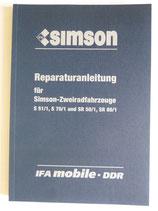 Reparaturbuch Reparaturanleitung für Simson S51 S70 SR50 SR80 Ausgabe 1988 DDR