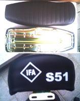 Sitzbank strukturiert Logo S51passend Simson S50,S51,S70 Neu